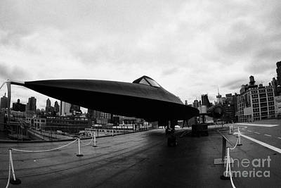 Lockheed A12 Blackbird On The Flight Deck Of The Uss Intrepid At The Intrepid Sea Air Space Museum Poster by Joe Fox