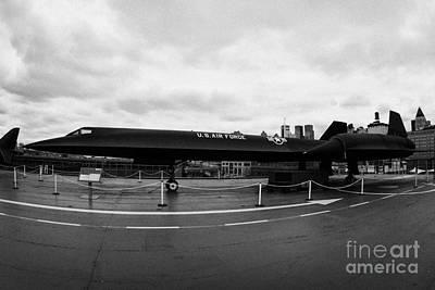 Lockheed A12 Blackbird On The Flight Deck Of The Uss Intrepid New York City Poster by Joe Fox