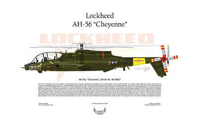 Lockheed Ah-56 Cheyenne Poster by Arthur Eggers
