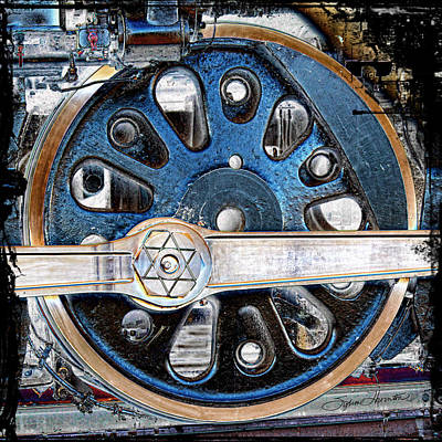 Loco Wheel Poster by Sylvia Thornton