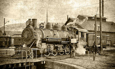 Locomotive No. 15 In The Yard Poster