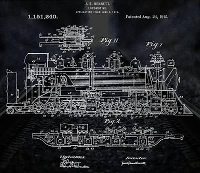 Locomotive Patent Poster