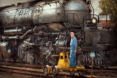 Locomotive - The Gandy Dancer  Poster by Mike Savad