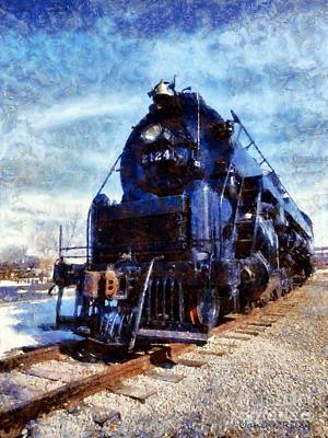 Locomotive Train 2124 Poster by Janine Riley