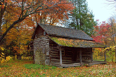 Poster featuring the photograph Log Cabin 1 by Jim McCain