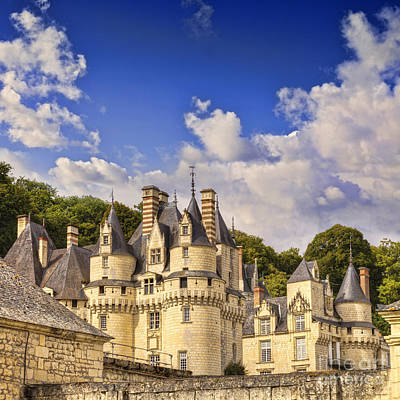 Loire Valley Chateau Usse Poster by Colin and Linda McKie