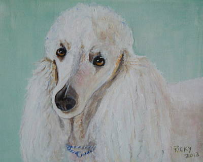 Lola Blue - Painting Poster by Veronica Rickard