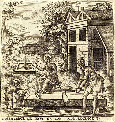 Léonard Gaultier, French 1561-1641, Jesus The Obedient Son Poster