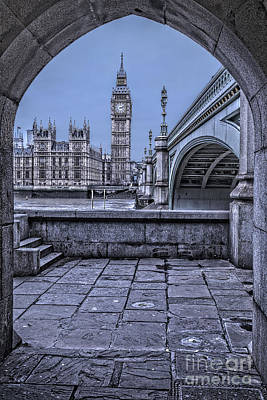 London Big Ben And Westminster Through The Arch Poster by Philip Pound