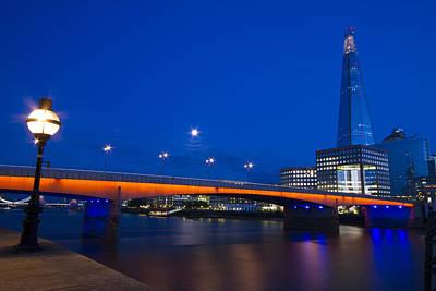London Bridge Shard Night Poster by David French