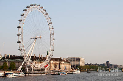 Poster featuring the photograph London Eye Day by Matt Malloy