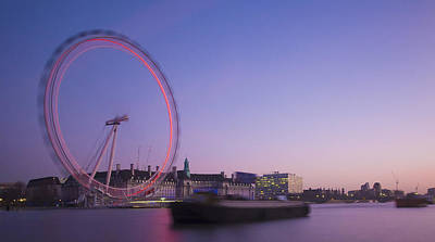 London Eye Late Dusk Poster by Clive Eariss