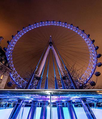 London Eye Supports Poster by Matt Malloy