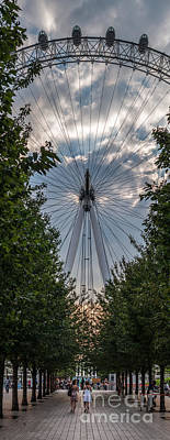 London Eye Vertical Panorama Poster