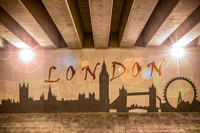 London Graffiti Landmarks Poster by Semmick Photo