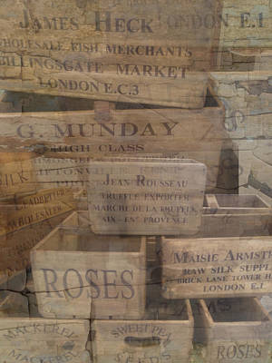 London Market Traders Crates Poster by John Colley