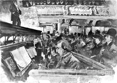 London Music Hall Orchestra Pit 1890 Poster by Padre Art