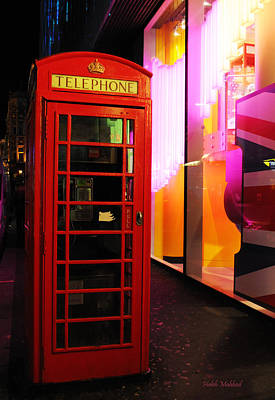 London Red Phone Booth Poster by Haleh Mahbod