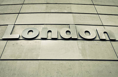 London Sign Poster by Tom Gowanlock