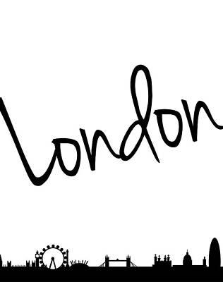 London Skyline Poster by Anna Quach