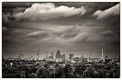 London Skyline From Hampstead Heath Poster