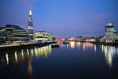 London Skyline From Tower Bridge Poster