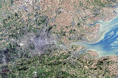 London, True-colour Satellite Image Poster by Science Photo Library
