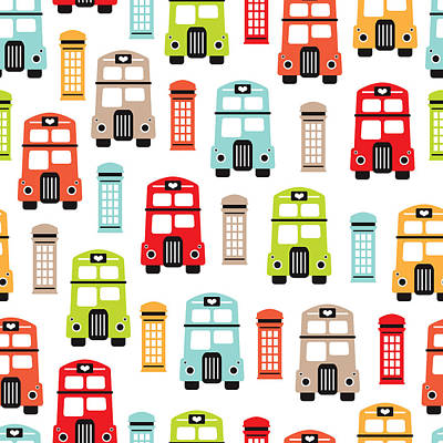 London Uk Double Decker Icon Of The Road Poster by Maaike Boot