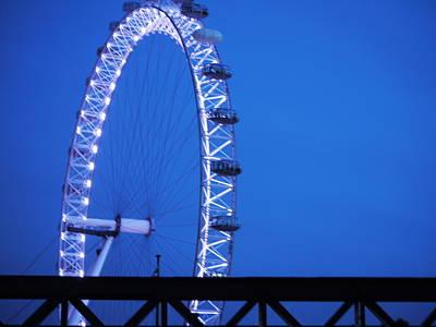 London's Eye At Dusk Poster
