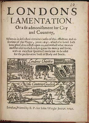 London's Lamentation Poster