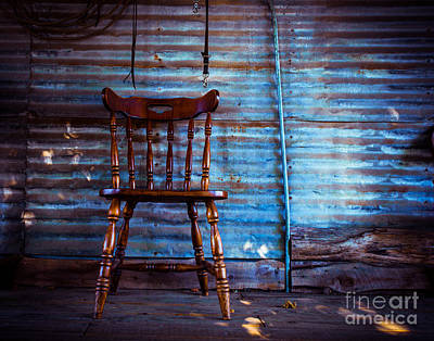 Lone Barn Chair Poster