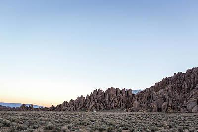 Lone Pine, Ca, Usa. A Lone White Camper Poster