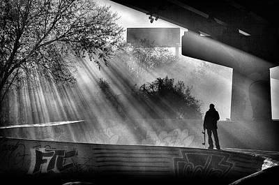Lone Skater Poster by Scott Wyatt