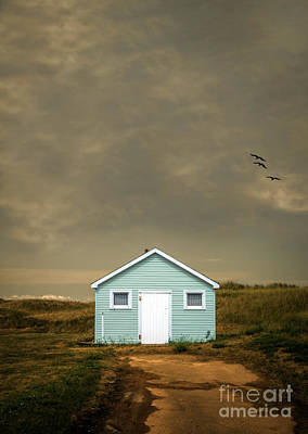 Lonely Beach Shack Poster by Edward Fielding