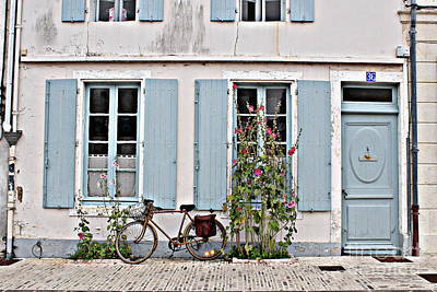 Poster featuring the photograph Lonely Bicycle... by Cendrine Marrouat