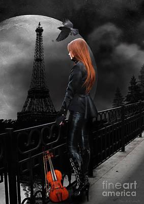 Lonely Paris Poster by Babette Van den Berg