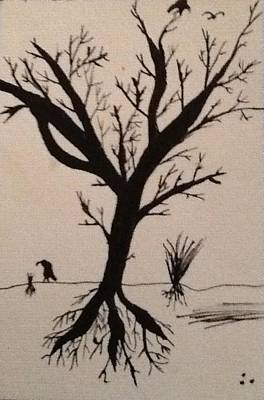 Lonely Tree Poster by Drew Click