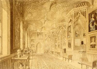 Long Gallery At Strawberry Hill Poster