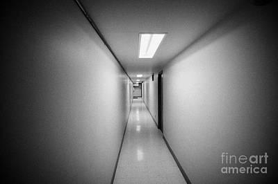 Long Narrow Thin Building Corridor Canada Poster by Joe Fox