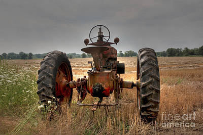Long Row To Hoe...with My Farmall Poster by David Bearden
