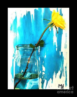 Long Stemmed Yellow Rose Poster
