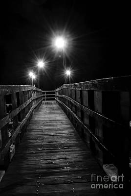 Poster featuring the photograph Long Walk On A Short Pier by Terry Garvin