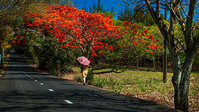 Long Way Along The Road. Mauritius Poster by Jenny Rainbow