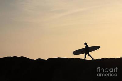 Longboarder Crossing Poster by Paul Topp