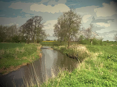 Longford Brook, Looking In The Direction Of Hill Top Farm Poster