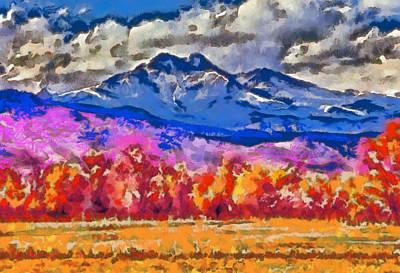 Longs Peak - Bierstadt Poster by Charles Muhle