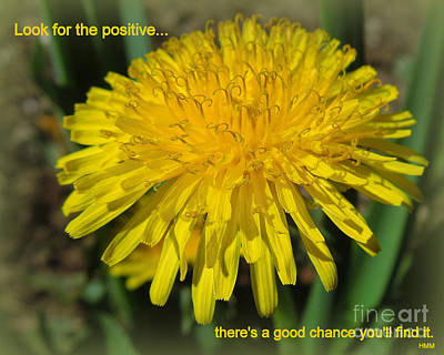 Look For The Positive Poster by Heidi Manly