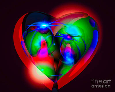 Look Inside My Heart Poster by Gayle Price Thomas