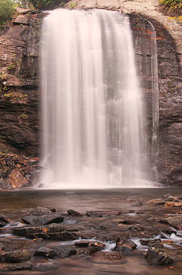 Poster featuring the photograph Lookging Glass Falls by Tyson and Kathy Smith