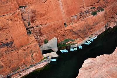 Looking Down At Glen Canyon  Poster